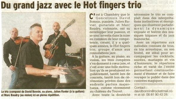 "Les ""Hot Fingers"" à La maison Rouge"