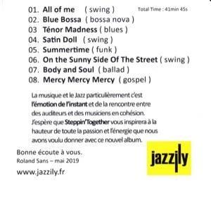 Jazzily jacquette cd intérieur