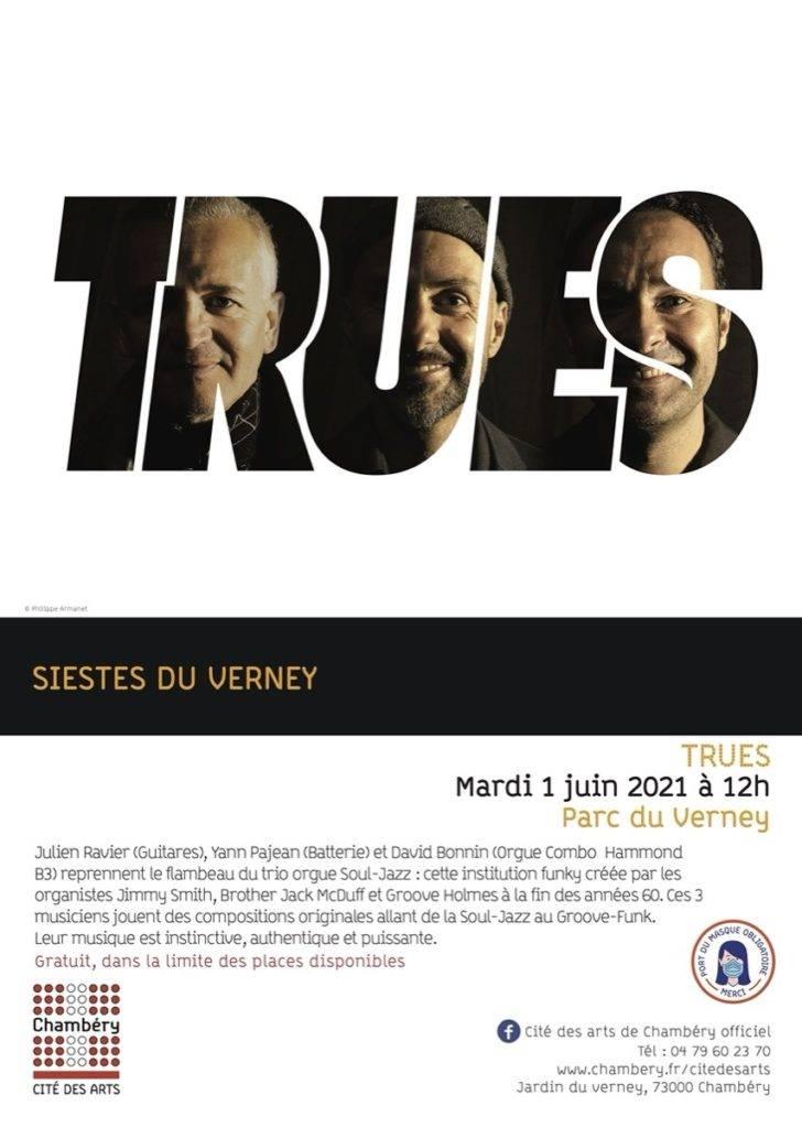 """TRUES en Concert à Chambéry, le 1er juin 2021 pour les """"Siestes du Verney""""."""